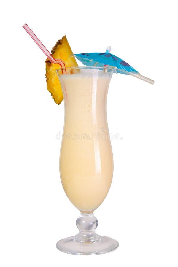 Cocktail de Pina Colada d'isolement images libres de droits