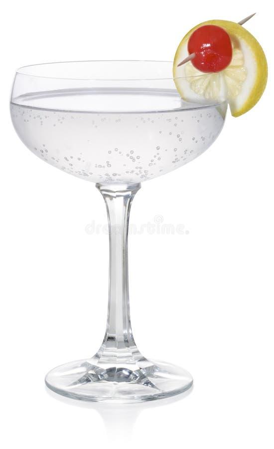 Cocktail de sifflement de genièvre photographie stock libre de droits
