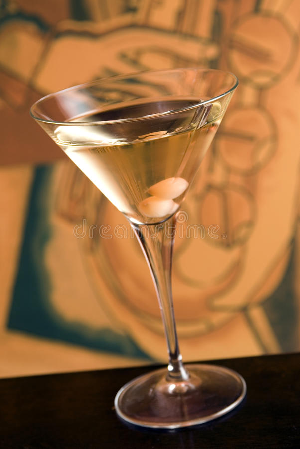 Cocktail de Wodka Gibson fotos de stock