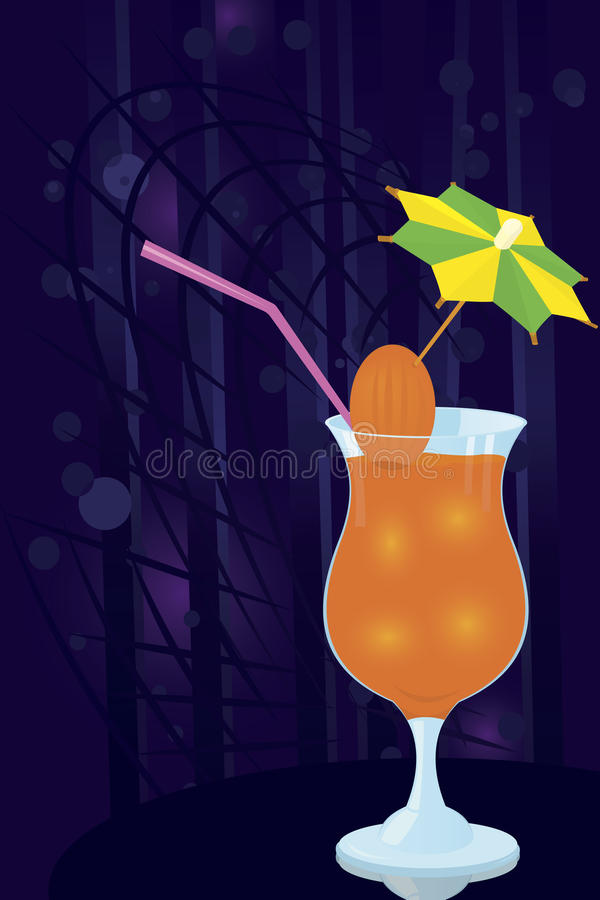 Download Cocktail- Decorated-with-umbrella-toothpick Stock Vector - Illustration of reflection, modern: 23309597