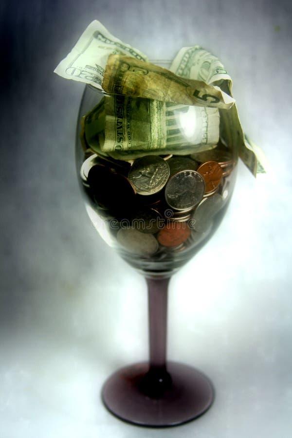 Cocktail dei soldi fotografia stock libera da diritti
