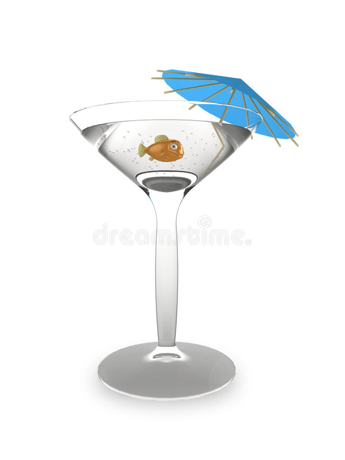 Cocktail del Goldfish royalty illustrazione gratis