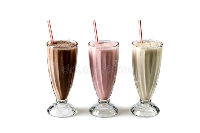 Cocktail del latte fotografie stock