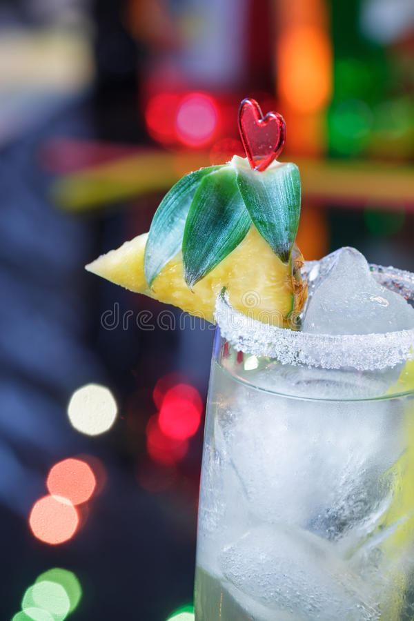 Cocktail dell'ananas fotografia stock