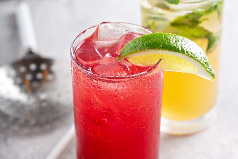 Cocktail della brezza di mare e di Mojito fotografia stock libera da diritti