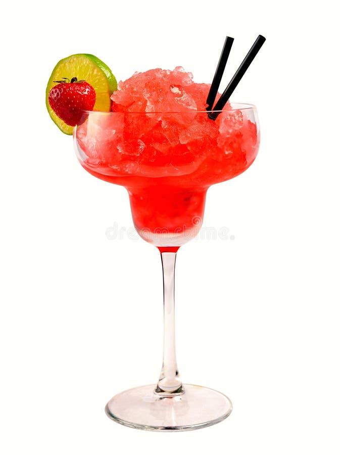 Cocktail della margarita della fragola immagine stock libera da diritti