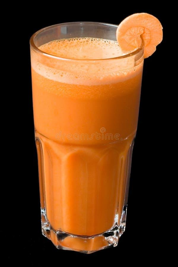 Cocktail della spremuta di carota fotografie stock libere da diritti