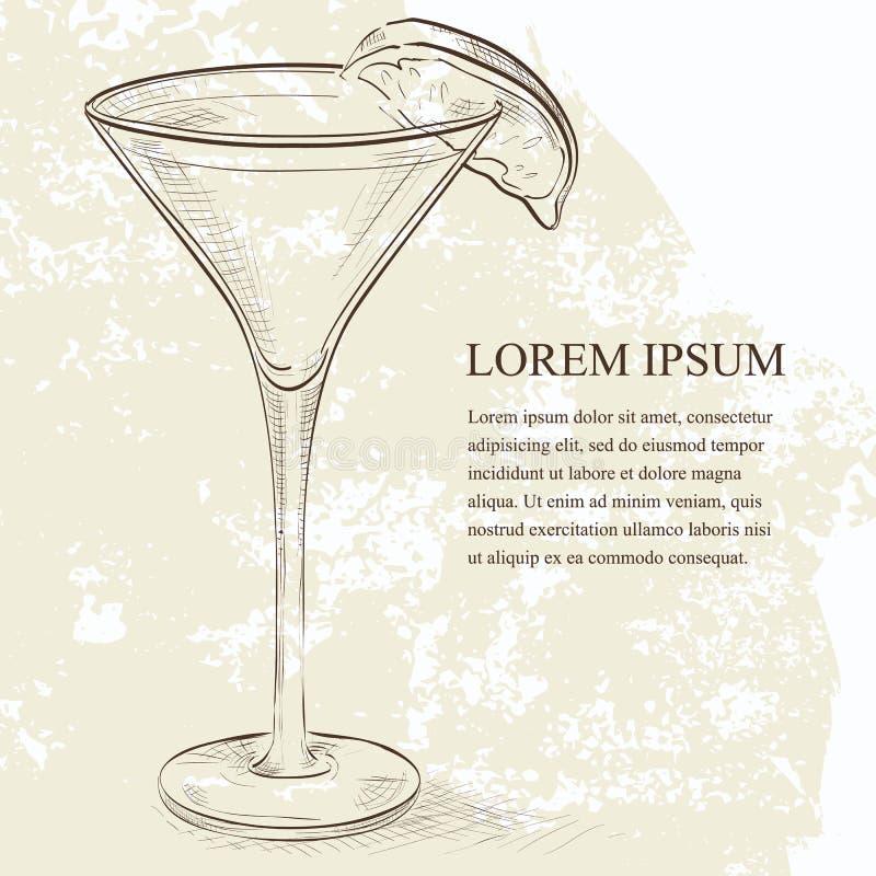 Cocktail dello scetch delle kamikaze illustrazione vettoriale
