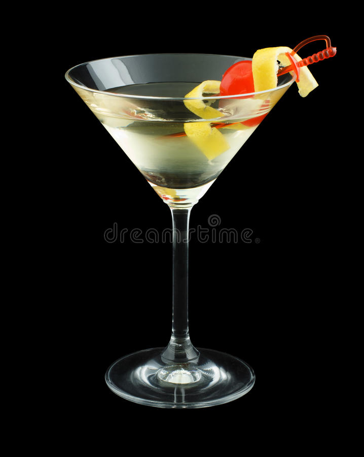 Cocktail dello smoking fotografia stock libera da diritti