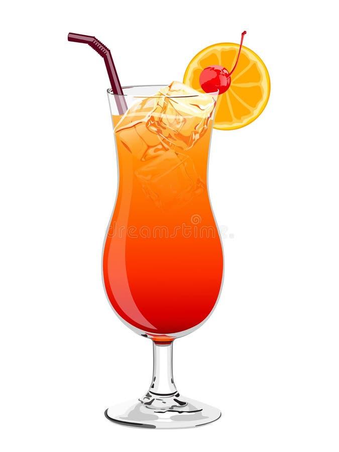Cocktail di alba di Tequila royalty illustrazione gratis