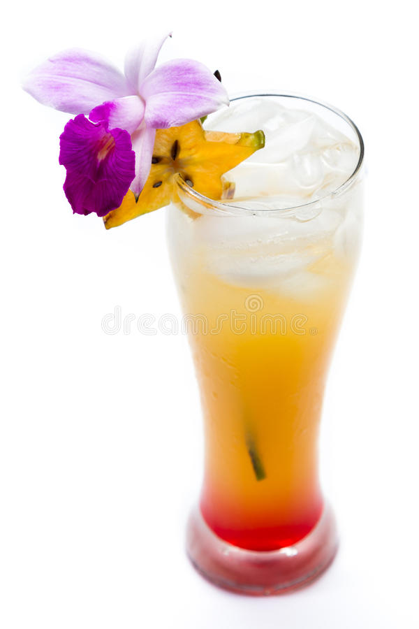 Cocktail di alba di Tequila fotografie stock libere da diritti