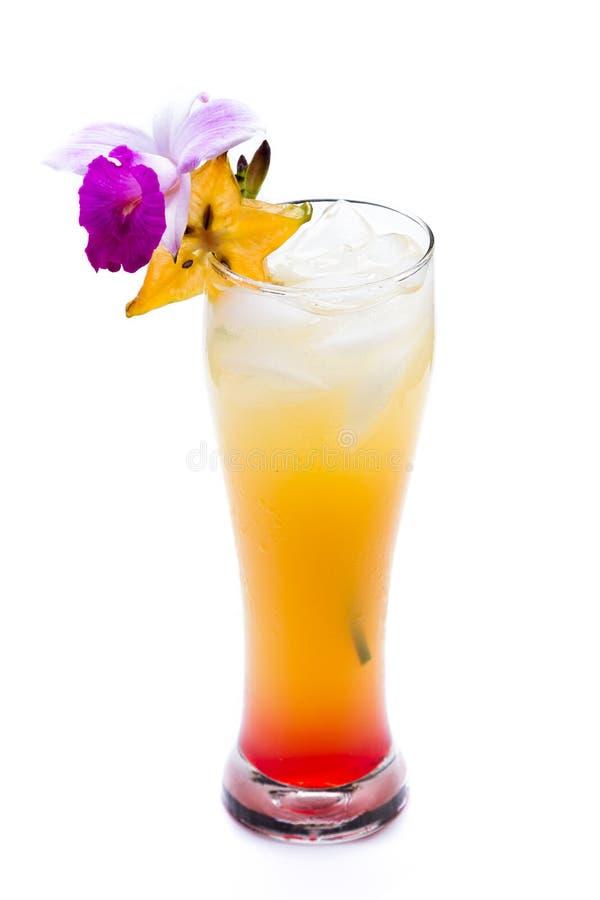 Cocktail di alba di Tequila fotografia stock libera da diritti