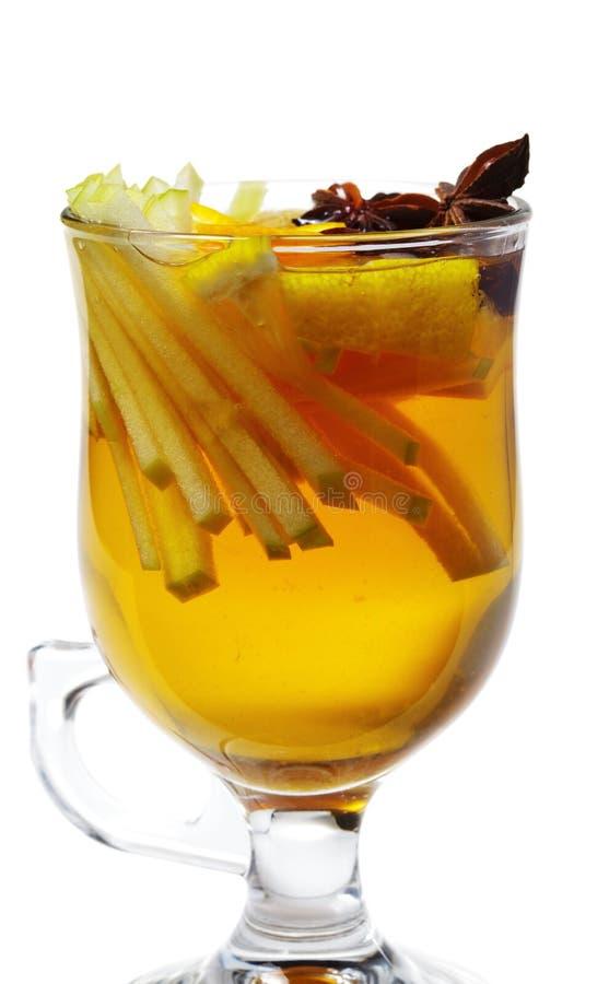 Cocktail di inverno - vino sciupato fotografie stock