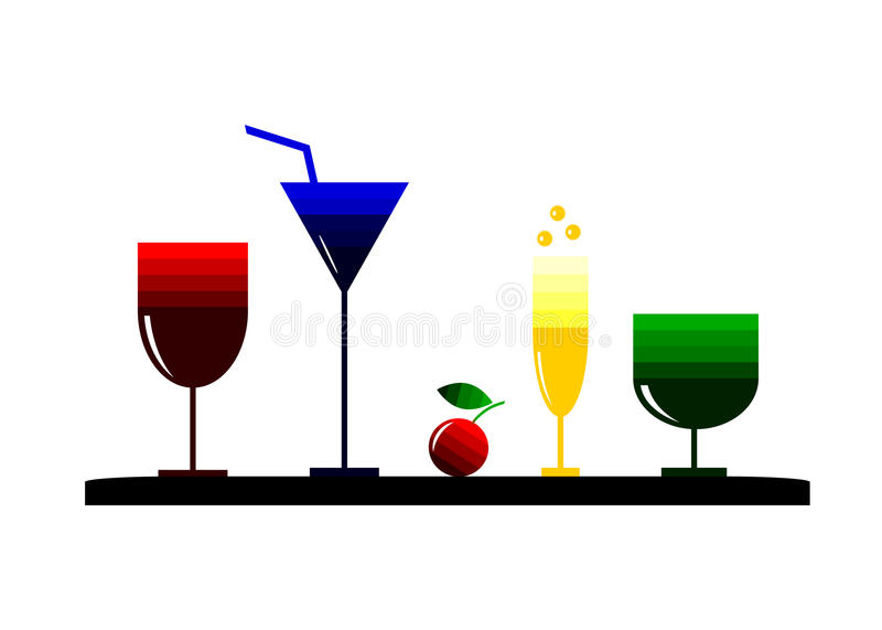Cocktail di logo illustrazione di stock