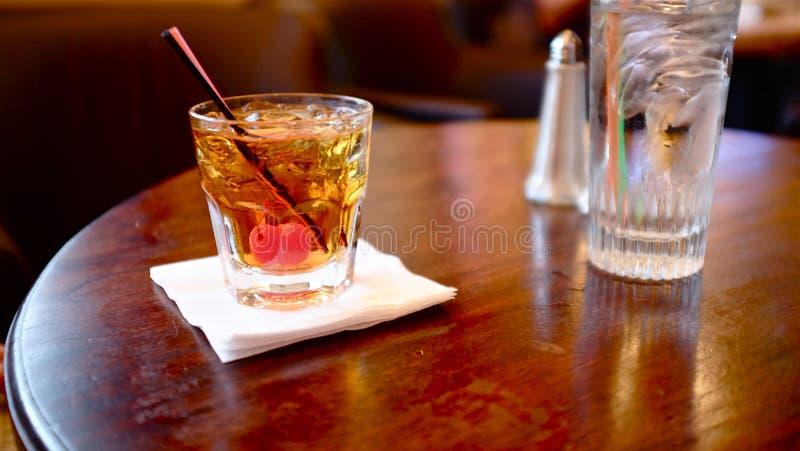 Cocktail di Manhattan immagine stock