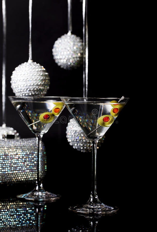 Cocktail 2 di Martini fotografia stock