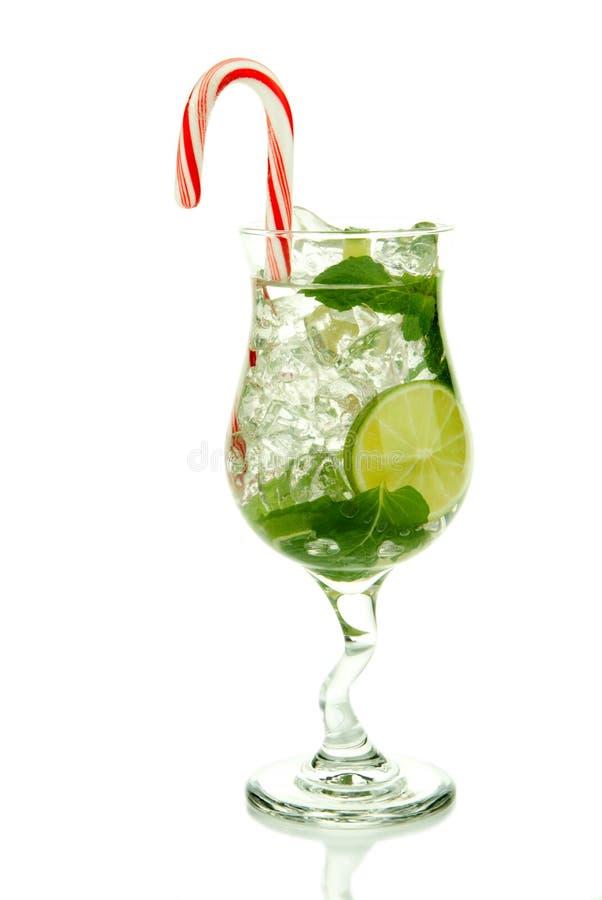 Cocktail di mojito di natale fotografia stock