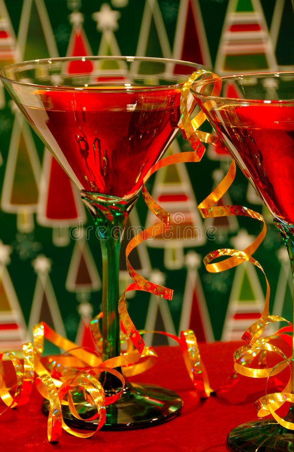 Cocktail di natale immagine stock
