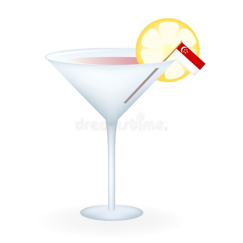 Cocktail di Singapore illustrazione vettoriale