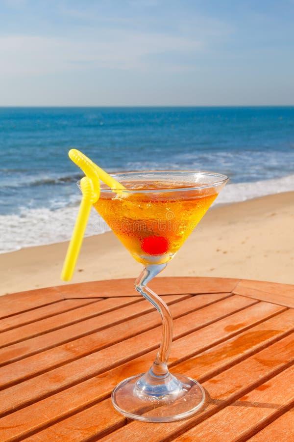 Cocktail do álcool com gelo imagens de stock