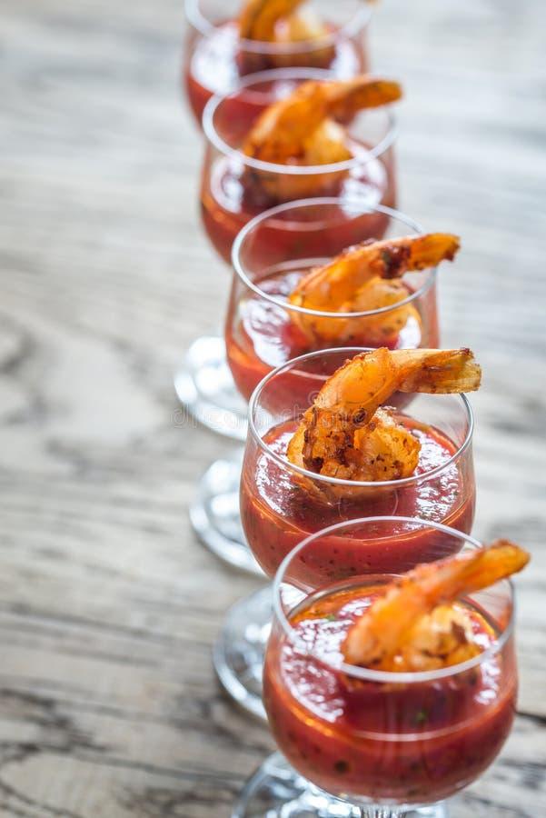 Cocktail do camarão fotografia de stock royalty free