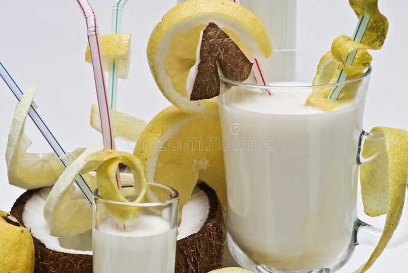 Cocktail do coco. imagem de stock