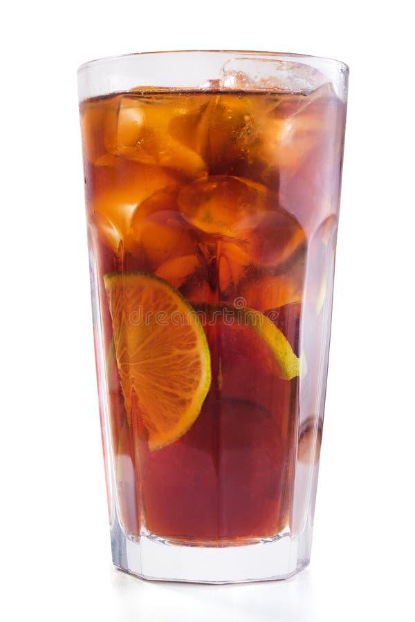 cocktail do libre de Cuba do álcool com cal fotos de stock