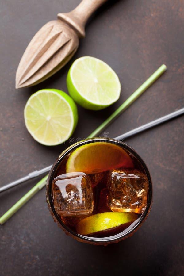 Cocktail do libre de Cuba foto de stock
