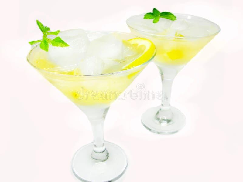 Cocktail do licor do álcool com limão fotografia de stock royalty free
