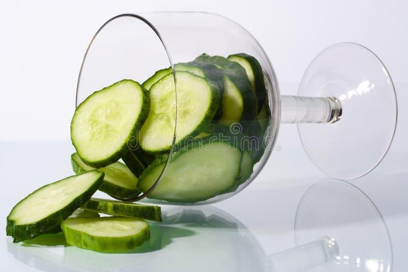 Cocktail do pepino fotografia de stock
