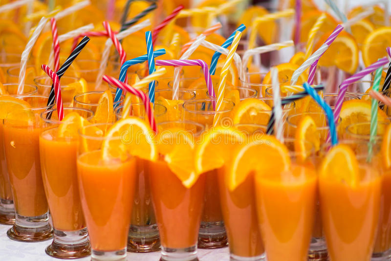Cocktail do suco de laranja fotos de stock
