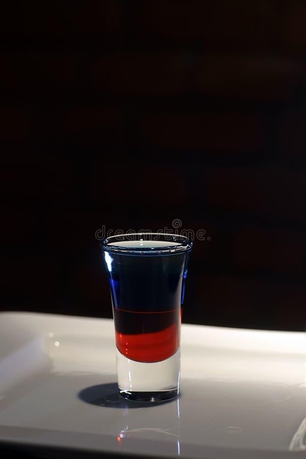 Cocktail do tiro de Twolevelled imagem de stock