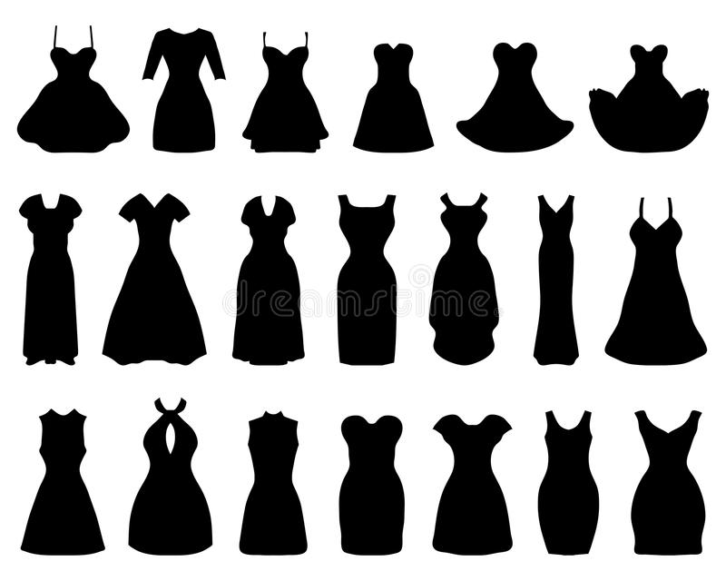 Cocktail Dresses Stock Illustration Illustration Of