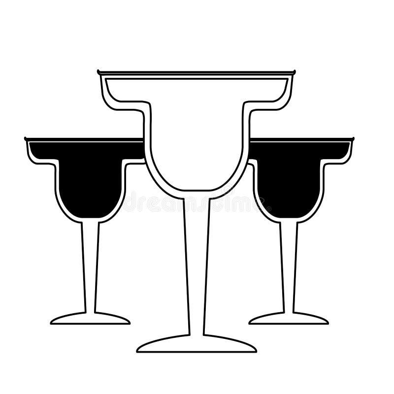 Cocktail drink liquor. On white background vector illustration royalty free illustration