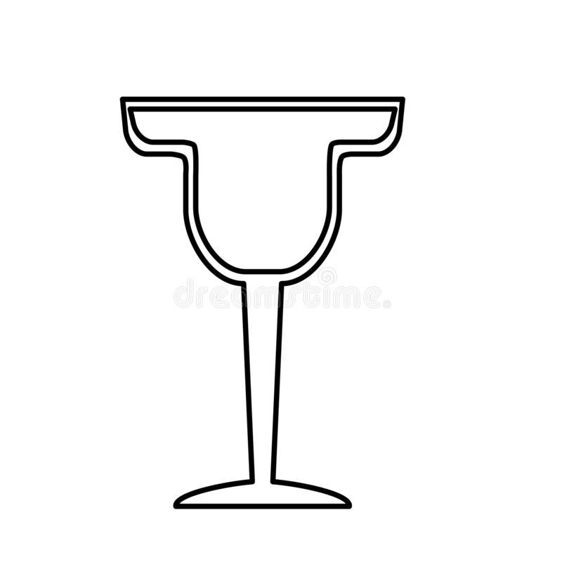Cocktail drink liquor. On white background vector illustration stock illustration