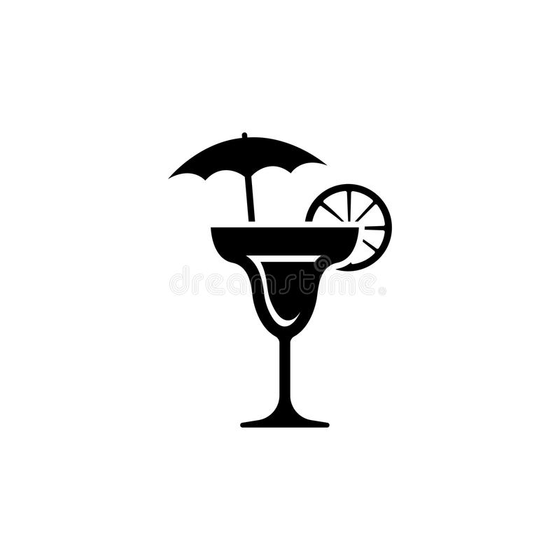 Martini icon. cocktail drink vector illustration. Cocktail Drink vector icon. Simple flat symbol on white background vector illustration