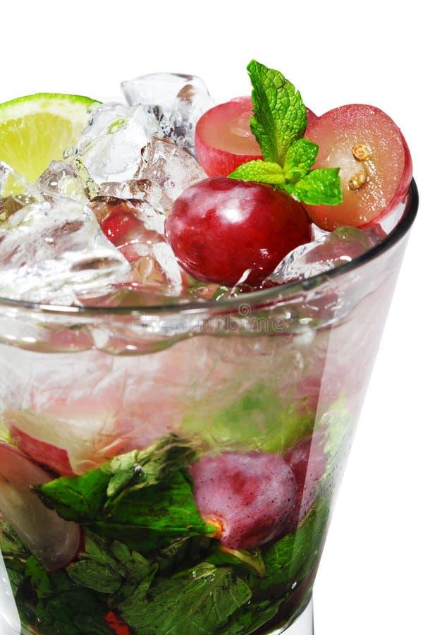 Cocktail - Druif Mojito royalty-vrije stock afbeeldingen