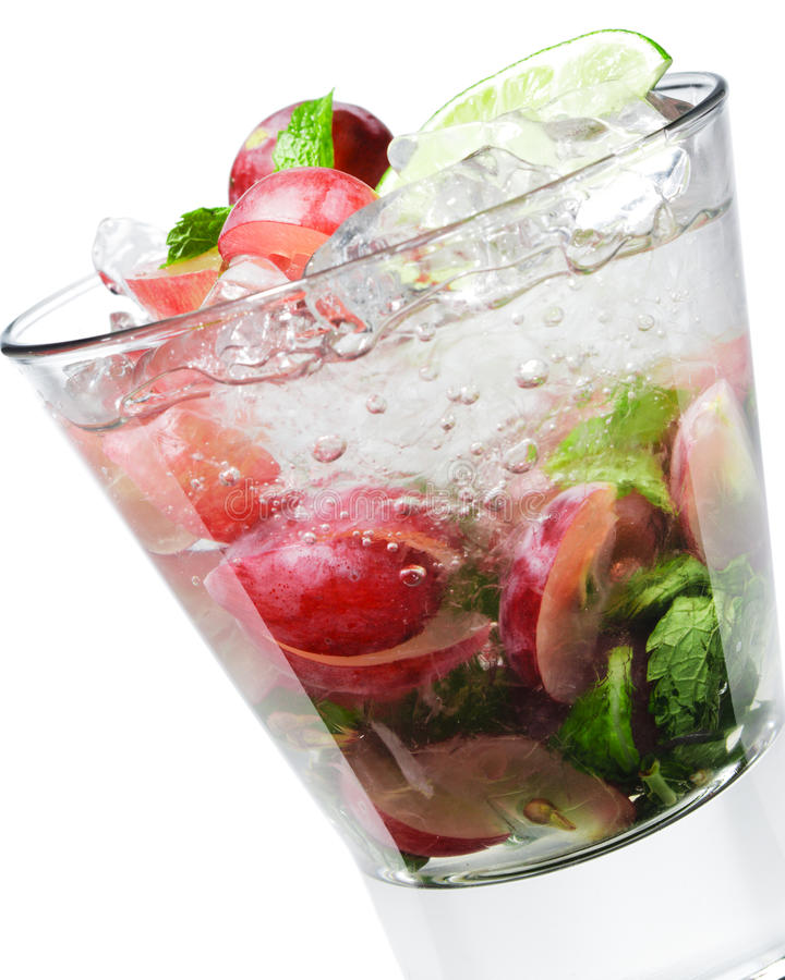 Cocktail - Druif Mojito royalty-vrije stock foto