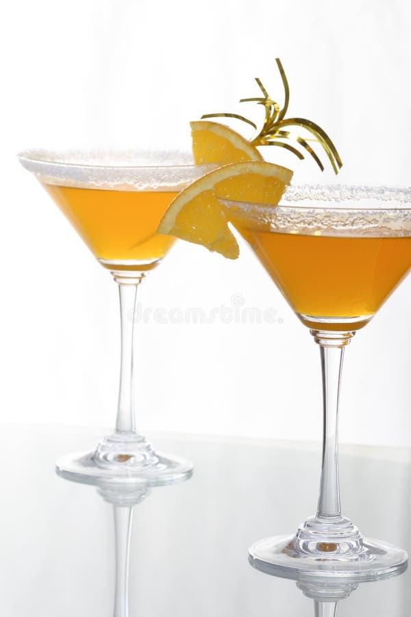 Cocktail ed agrume arancioni 3 immagini stock