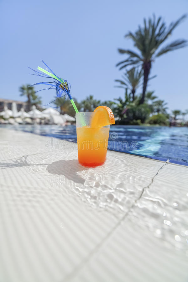 Download Cocktail at poolside stock photo. Image of copy, activity - 33637480