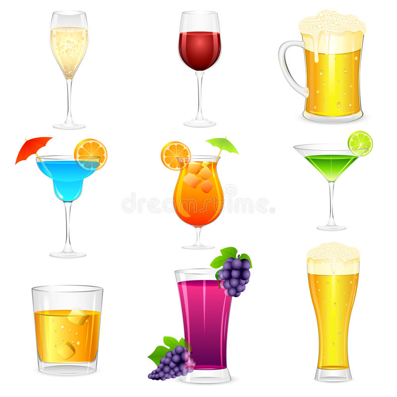 Cocktail et boissons dures illustration stock