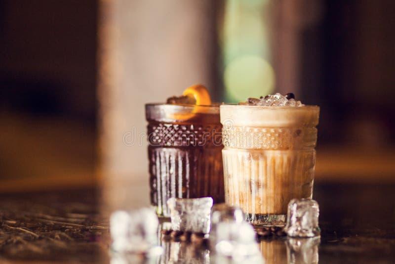 Cocktail frios do café imagem de stock royalty free