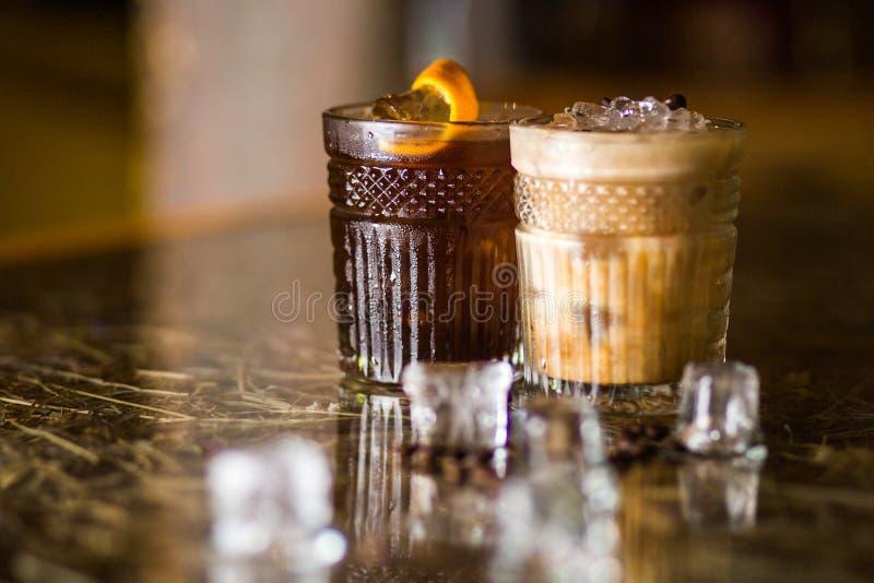 Cocktail frios do café imagens de stock royalty free