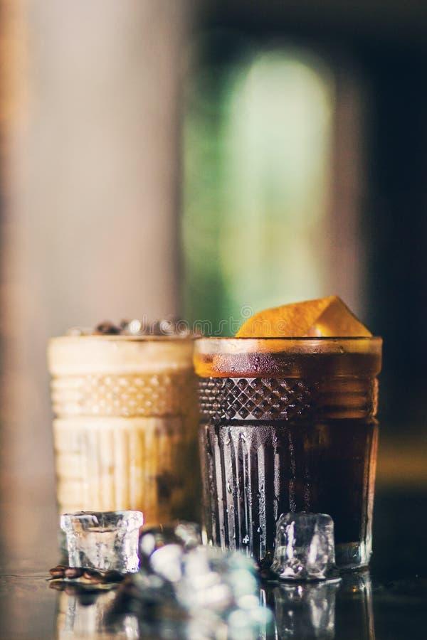 Cocktail frios do café fotografia de stock royalty free