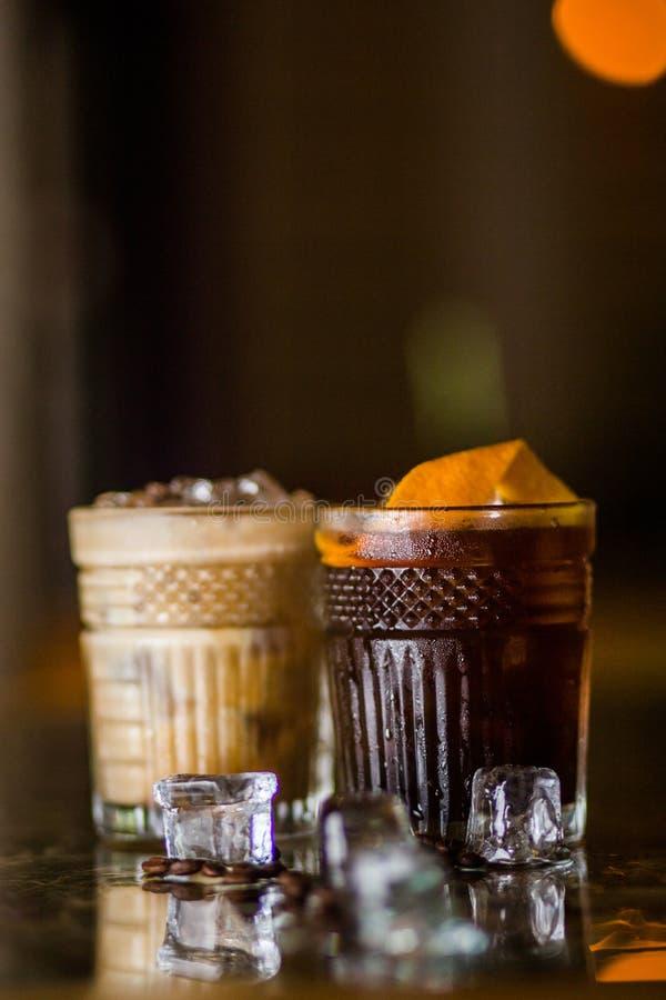 Cocktail frios do café foto de stock royalty free