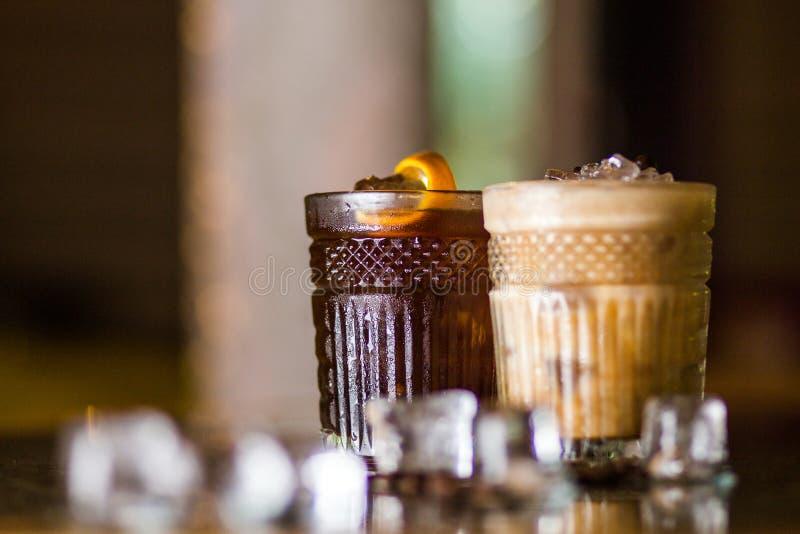 Cocktail frios do café imagens de stock