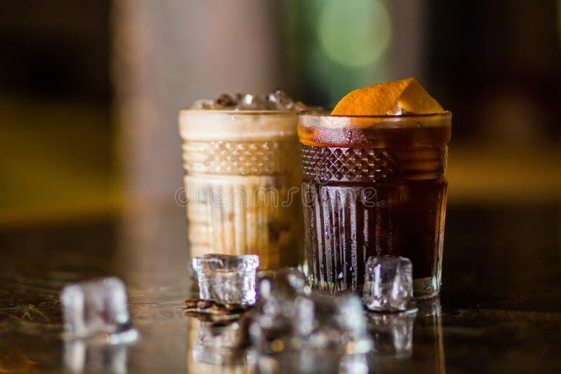 Cocktail frios do café fotos de stock royalty free