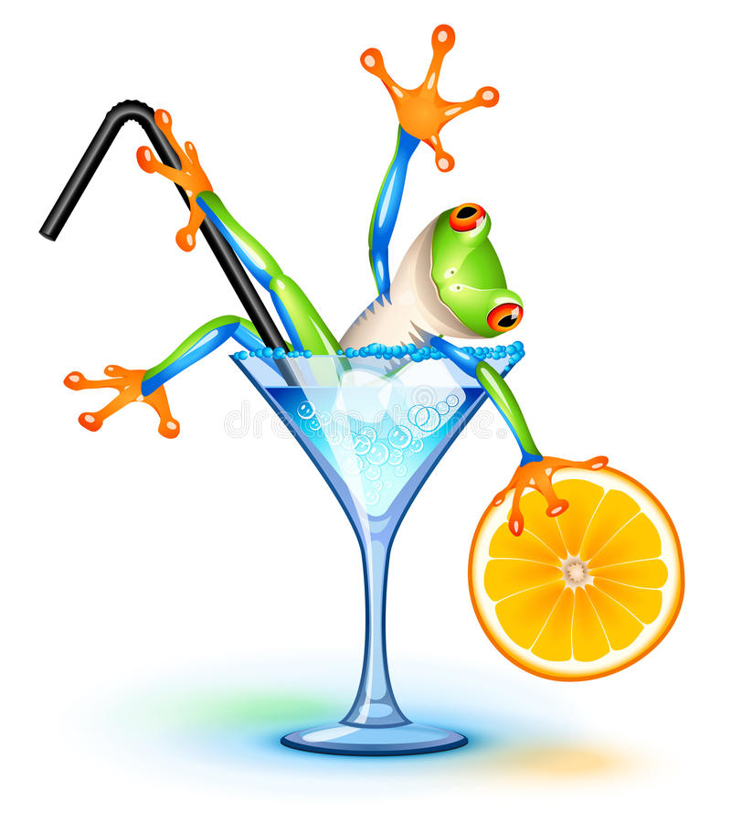 Download Cocktail Frog stock vector. Image of refreshment, animal - 26757784