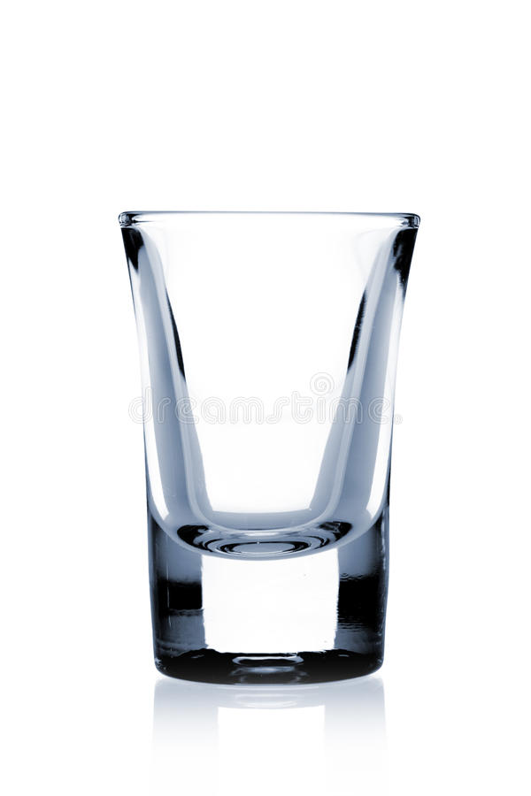 Cocktail Glass collection - Small Shot. Isolated on white background stock photography