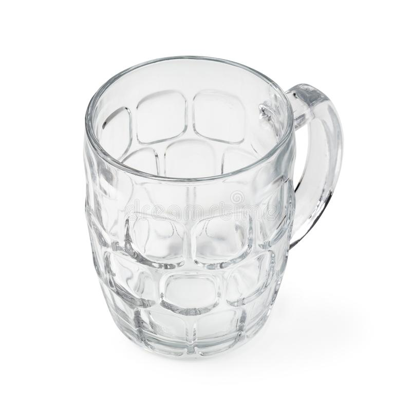 Cocktail glass. Empty beer mug isolated on a white background stock photos